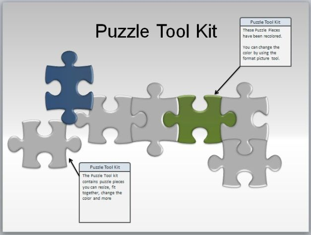 best jigsaw puzzle templates for powerpoint, Modern powerpoint